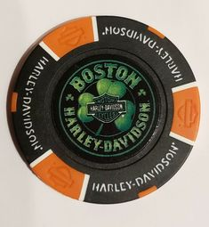 Blue//Red Colors Harley-Davidson Custom Wisconsin Harley Poker Chip Collectible