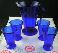 Gorgeous Cobalt Blue Depression Glass