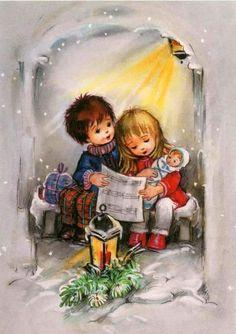 Soloillustratori: Search Results for Josefine Batke-Koller Christmas Scenes, Christmas Nativity, Christmas Past, Christmas Carol, Christmas Gifts, Holiday, Vintage Christmas Cards, Xmas Cards, Vintage Cards