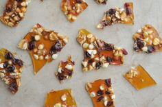 Cranberry, White Chocolate and Walnut Brittle
