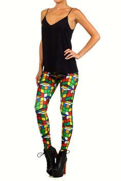 Rubix Cube Leggings | POPRAGEOUS ($80, XL)