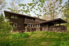 George M. Millard House. Highland Park, Illinois, 1906. Frank Lloyd Wright. Prairie Style.
