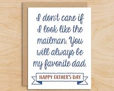 Favorite Dad Father's Day Card  Funny Father's by BloomLetterpress