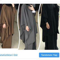 Moslem Fashion, Niqab Fashion, Modest Fashion, Fashion Dresses, Hijab Dress, Hijab Outfit, Mode Abaya, Modele Hijab, Sport Fashion