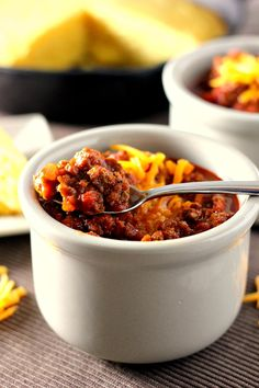 Slow Cooker Hearty No-Bean Chili | www.pumpkinnspice.com