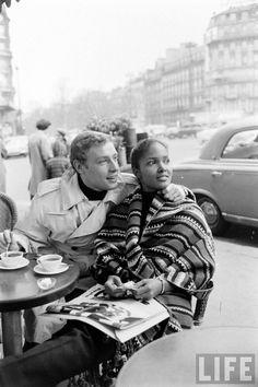 Actress Marpessa Dawn and husband Georges Vander, Paris, 1960 Black Woman White Man, Black Love, Mixed Couples, Cute Couples, Marpessa Dawn, Model Tips, Divas, Biracial Couples, Interracial Family
