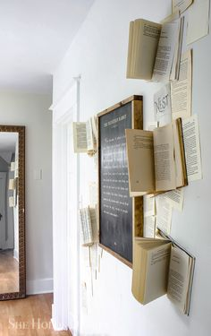 DIY Book Page Wall D