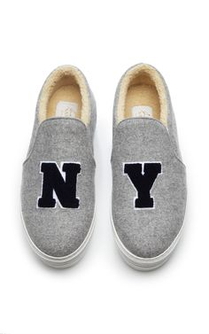 Shearling NY Slip-On Sneakers by Joshua Sanders - Moda Operandi -- i literally just started to tear up