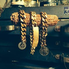 3 Chainz. #rust #belt #americana #rustbeltamericana #vintage #junkyard #jewelry #brass #foundart #upcycle