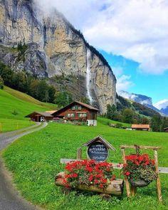 In Lauterbrunnen, Switzerland.