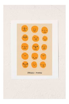 """""""Faces I Know"""" by Hiller Goodspeed on Etsy - Gotta love silly illustrations! Sketch Note, Arte Sketchbook, Posca, Grafik Design, Mellow Yellow, Artsy Fartsy, Art Inspo, Art Photography, Illustration Art"""