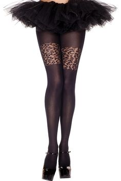 #MusicLegs #StaySexy   https://www.fifty-6.com/en/catalog/clothing/music-legs/hosiery/pantyhose-71 Cod.: ml7292 Pantyhose Spandex opaque tights with sheer floral top design Color: Black Sizes: One Size Material: 100% nylon