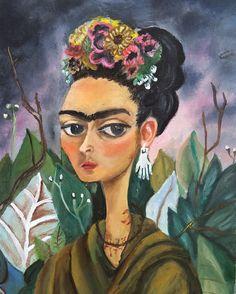 Versiones de Obras Maestras. Autorretrato dedicado por ToriaCasana #frida #kalho #Cuadros #FridaKalho #Oleo Mona Lisa, Etsy, Artwork, Artist, Painting, Impressionism, Teachers, Handmade Gifts, Hand Made