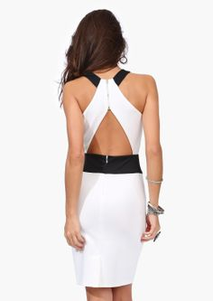love this black and white dress