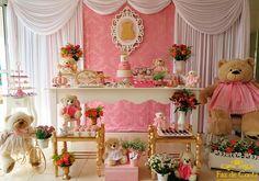 decoração ursinha coroa