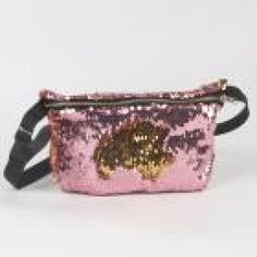 Red and Silver, Teal and Black, Pink and Gold Sequins Style Fashion Women Waist and Chest Bags