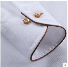 New french style male long sleev collar cotton 100%  slim Fit  Men Dress Shirt Fashion