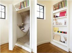 Nook / panic room for the kids, carpeted!