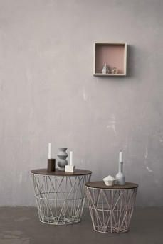 Small table or basket by Ferm Living at Pand 10 Haarlem / www.pand10.com