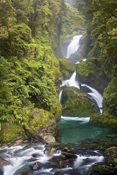 Waterfall on the Milford Track, New Zealand. #NewZealand #Hiking