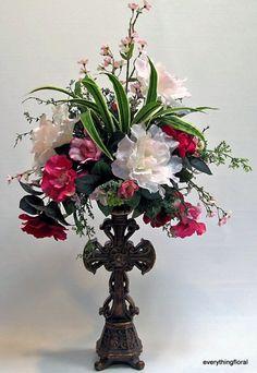 Silk Flower Arrangement Carnations Anemones by EverythingFloral