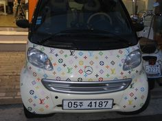 The Luxury of Wearing Your Car Benz Smart, Smart Car, Smart Fortwo, Car Wrap, My Ride, Louis Vuitton Monogram, Mercedes Benz, Luxury, Vehicles