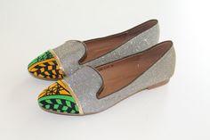 ballerine en tissu pagne africain : Chaussures par doranels-wax