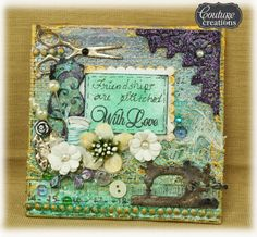 sue smyth: Couture Creations Stitched with Love Canvas
