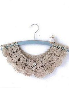 Openwork crochet collar