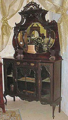 Beautifully Carved English Victorian Era Etagere c. 1880