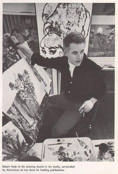Bob Peak at his drawing board.