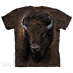 Big Face American Buffalo T-Shirt - t-shirts with farm animals - t-shirts for women - t-shirts for men - t-shirts for kids - epic t-shirts - awesome t-shirts - t-shirts with animals - christmas presents - ideas for christmas - christmas presents for kids Buffalo Animal, Buffalo T Shirts, Big Face, Tee Shirts, Tees, Tye Dye, Ink Color, Native American Indians, Classic T Shirts