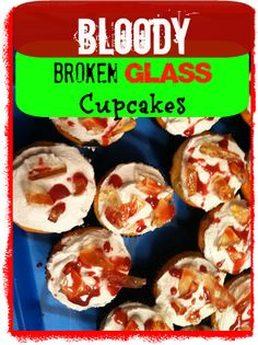 Bloody Broken Glass Cupcakes for Halloween- my boys will love these! How about yours?