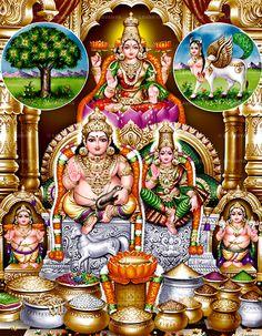 Hindu Cosmos — Lakshmi Kuberan (via Lavanya Pictures & Frames) Shiva Parvati Images, Lakshmi Images, Lord Murugan Wallpapers, Lord Vishnu Wallpapers, Saraswati Goddess, Shri Yantra, Hanuman Wallpaper, Lord Shiva Family, Lord Shiva Painting
