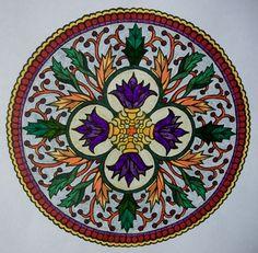 Mystical Mandalas coloring book.