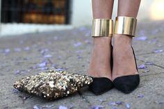 Christian Louboutin Metal Cuff Heels