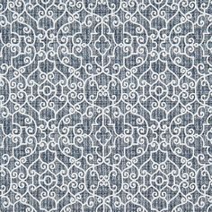 Indigo Blue Textured Stitch Fabric Designer Cotton Fabric By The Yard Curtain Fabric Drapery Fabric Upholstery