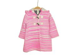 Baby Coat Neon Pink Stripes