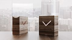 These minimalistic wooden clocks immediately grab attention. Your challenging design ideas will benefit greatly from a high-quality 3D #rendering – find out more at archicgi.com.