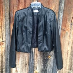 NWT Calvin Klein Faux Leather Jacket Blazer Size S NWT! Perfect to through over an evening dress! Never worn! Calvin Klein Jackets & Coats Blazers