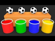 Learn Colors with Surprise Soccer Balls - Magic Liquids for Children Toddlers - Kids Nursery Rhymes, Rhymes For Kids, Gumball, Red Dead Redemption Ii, Carnival Themes, Kids Tv, Learning Colors, Kids Songs, Disney Cars