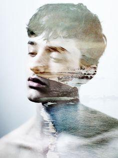 Layered image of a boy