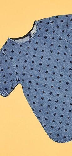 Robe en jean brodée étoiles - Stella Mc Cartney Kids #LeBonMarche #TBM #fashion…