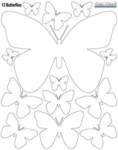 Butterly Wall Stickers- White