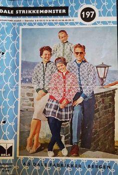 Vintage Magazines, Bergen, Asana, Color Combinations, Knitting Patterns, Baseball Cards, Model, Retro, Colour