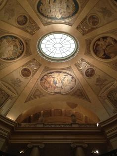 Cupola painted by John Singer Sargent at Boston Museum of Fine Arts