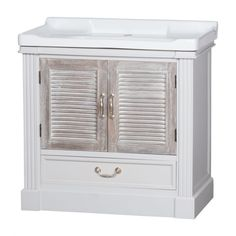 The Liberty Collection Vanity Sink Unit With Louvred Doors- Swagger Inc