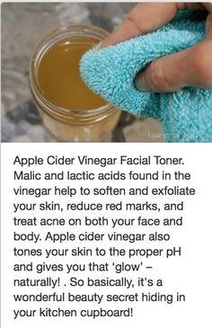 Apple cider vinegar facial toner: