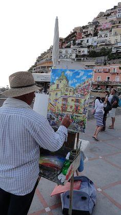 Positano, Amalfi Coast, Italy Quiero ir a este lugarHERMOSO LUGAR Y HERMOSA PINTURA