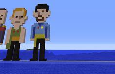 Pixel art du 14 Avril 2015. A demain pour la suite les amis. Longue vie et prospérité. Minecraft, 14 Avril, Vaulting, Pixel Art, Fallout Vault, Family Guy, Fictional Characters, Amigos, Fantasy Characters